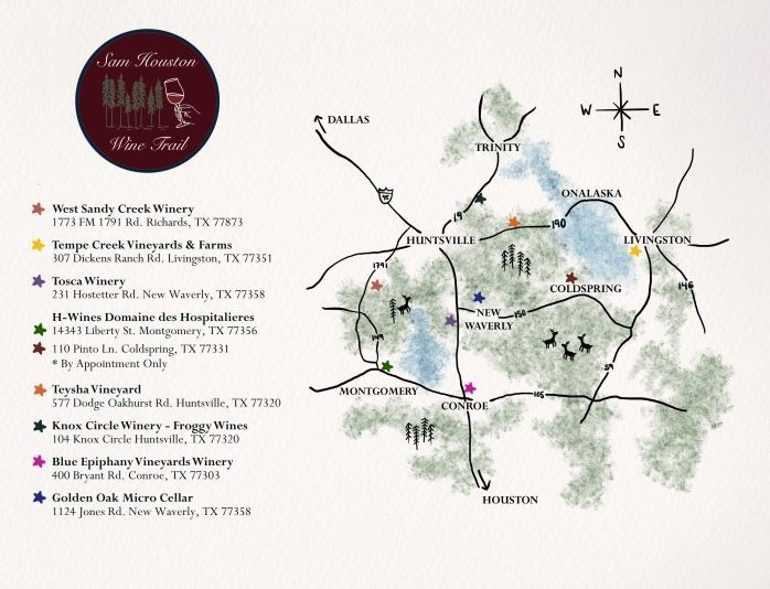 Sam Houston Wine Trail